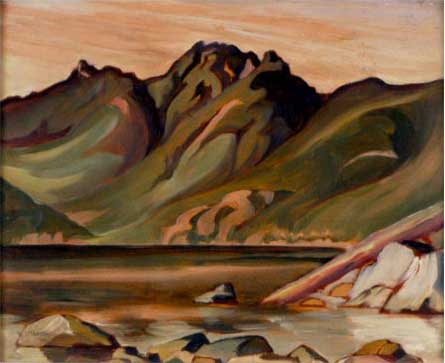 Evening, Copper Cove&nbsp;Oil on Board 12&quot; x 15&quot;, 1929<br/>Private Collection, Vancouver, Canada