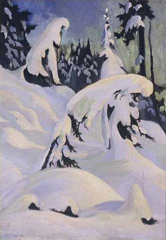 "Hollyburn Trail Oil on Canvas 26"" x 19.75"", 1929<br/>Private Collection, Vancouver Island, Canada"