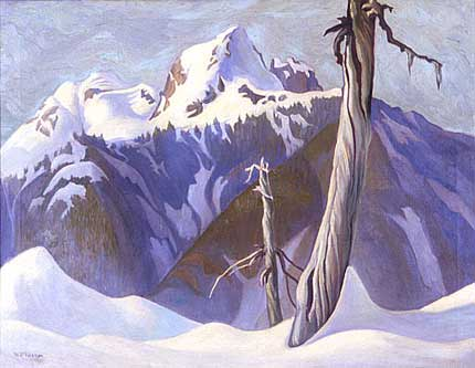 Mount Crown&nbsp;Oil on Canvas 28&quot; x 32&quot;, 1928<br/>Private Collection, Vancouver, Canada