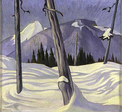 Shadows, Grouse Mountain&nbsp;Oil on Canvas 22&quot; x 24&quot;, 1930<br/>Private Collection, Vancouver, Canada