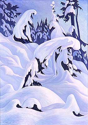 "Winter Phantasy Oil on Canvas 48"" x 34"", 1938"