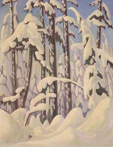 Winter Trail, Grouse Mountain&nbsp;Oil on Canvas 36&quot; x 28&quot;, 1945<br/>Vancouver Art Gallery, Gift of Gordon and Marion Smith&nbsp;Photos &copy; Vancouver Art Gallery (Photo&#58; Trevor Mills) VAG 92.8.52